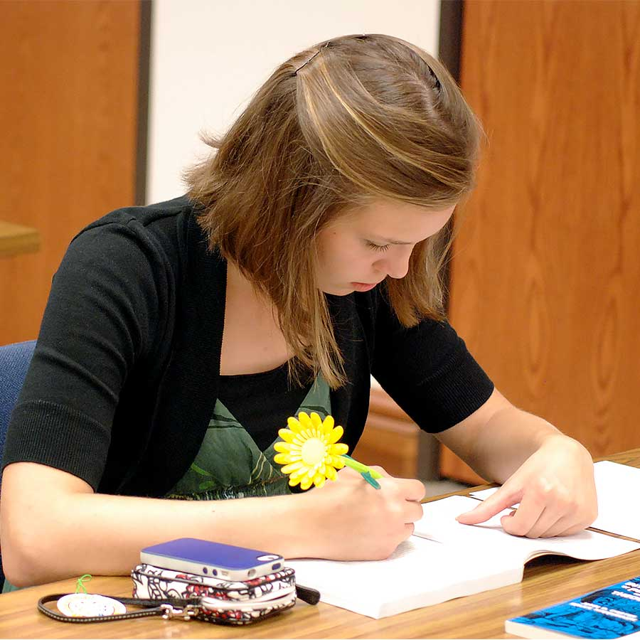 Appalachian Bible College Student Studying
